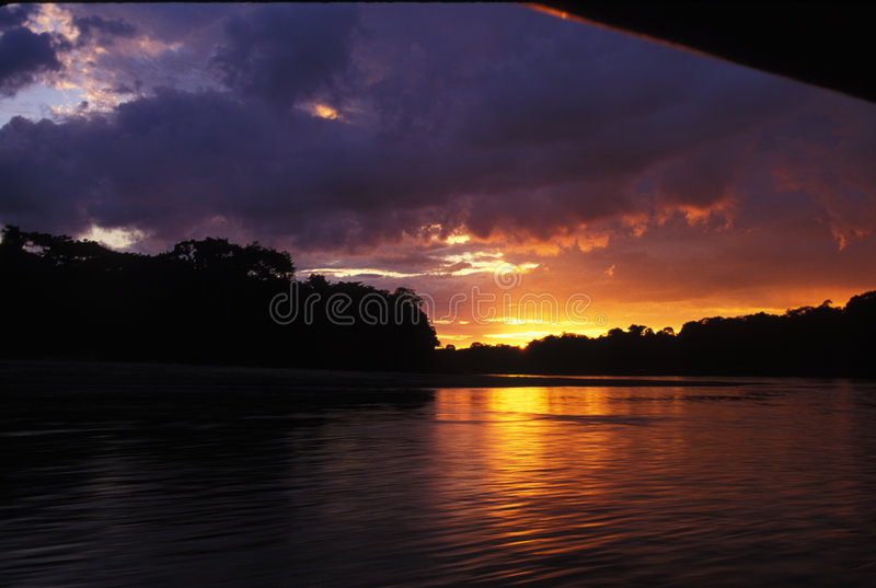 Download River sunset stock photo. Image of glow, tropical, nature - 51832