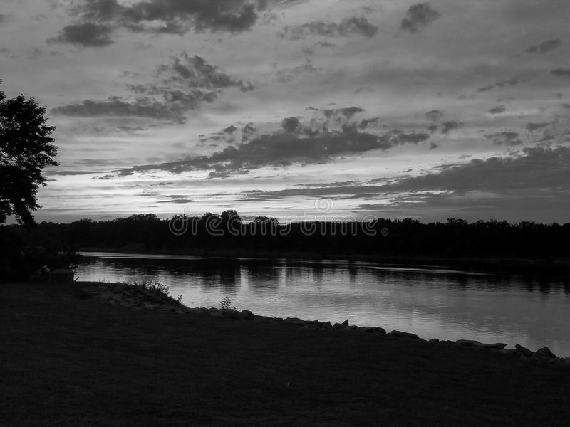 River sunset royalty free stock photography