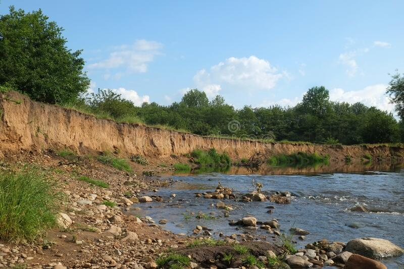 River Tame Erosion stock images