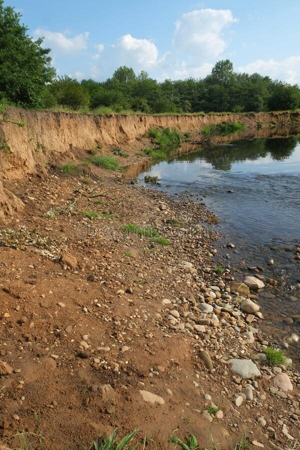 River Tame Erosion stock image