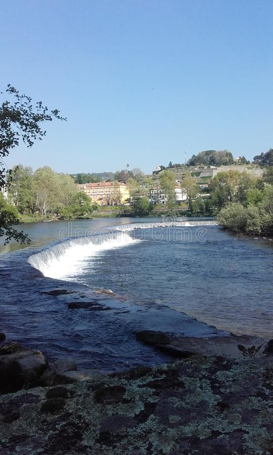 The river Tamega Amarante Portugal royalty free stock photos