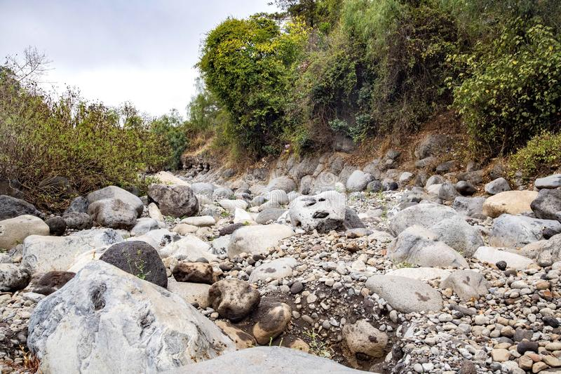 River Tarakea, Rombo- Kilimanjaro Tanzania. This river has been flowing water throughout the year, it has recently dried up due to natural and man made factors stock photos