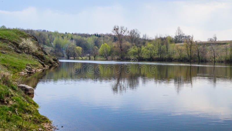 River `Teterev` in Ukraine, city Chudnyv. This photo made in the Spring in the city of Chudnyv Zhytomir region, Ukraine royalty free stock photography