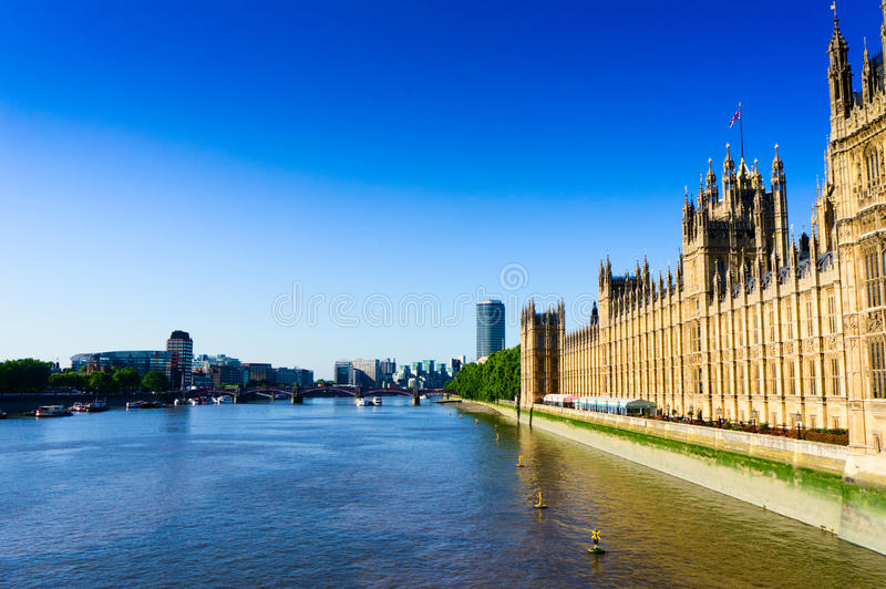 River Thames. And its on both sides of the building royalty free stock image