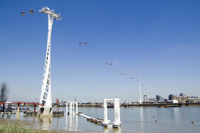 River Thames Cable Car, London Stock Photos
