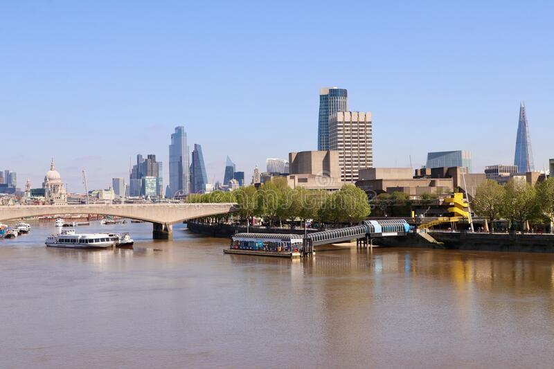 River Thames in The city of London, England royalty free stock photos