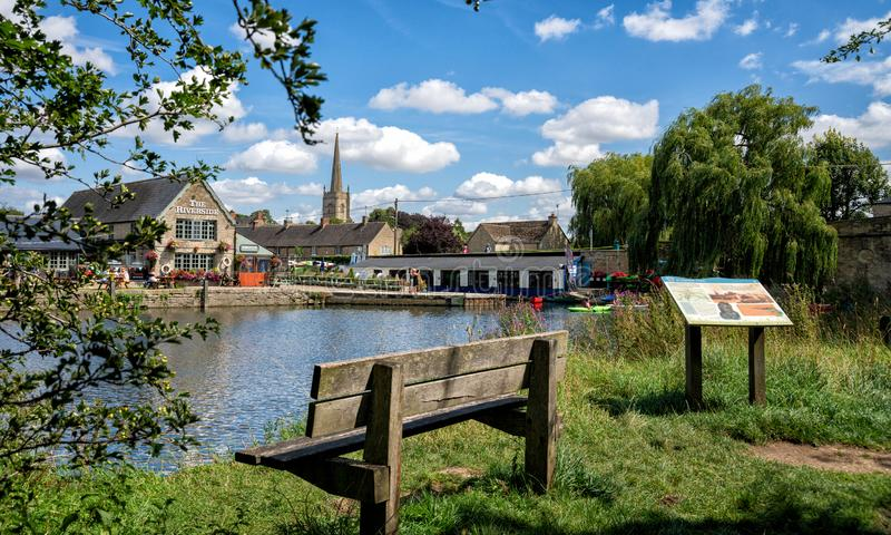 The River Thames at Lechlade, Gloucestershire, UK. The River Thames at Lechlade, Gloucestershire, United Kingdom stock images