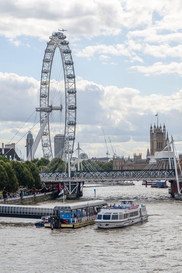 River Thames London fotografia stock
