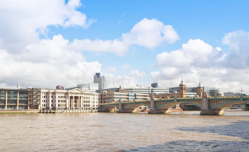 River Thames in London. Panoramic view of River Thames London UK royalty free stock image