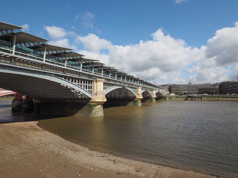River Thames in London. LONDON, UK - CIRCA JUNE 2017: Panoramic view of River Thames stock image