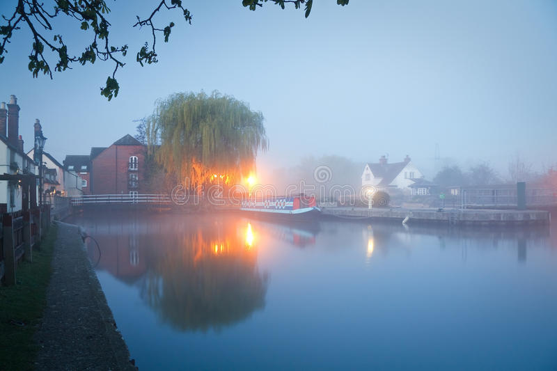 River Thames in Oxford. Lock at Sandford-on-Thames in Oxford royalty free stock images