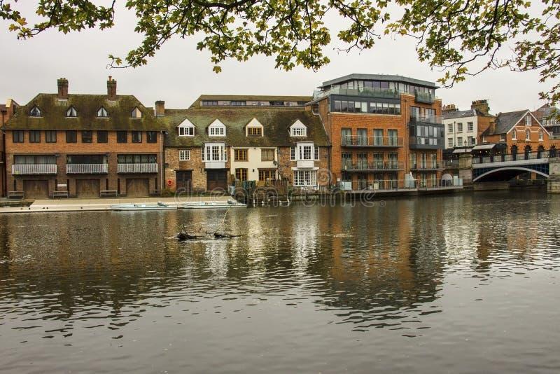River Thames in Windsor, England, UK. River Thames in town Windsor, Berkshire, England, United Kingdom stock image