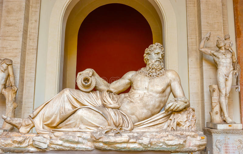 River Tiber Sculpture, Vatican Museum, Vatican City royalty free stock image