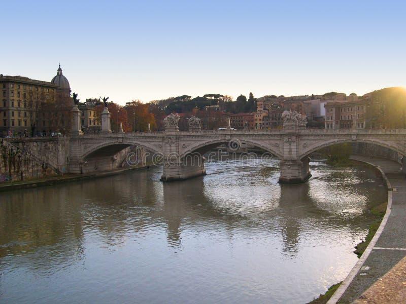 River Tibur in Rome Italy royalty free stock photos
