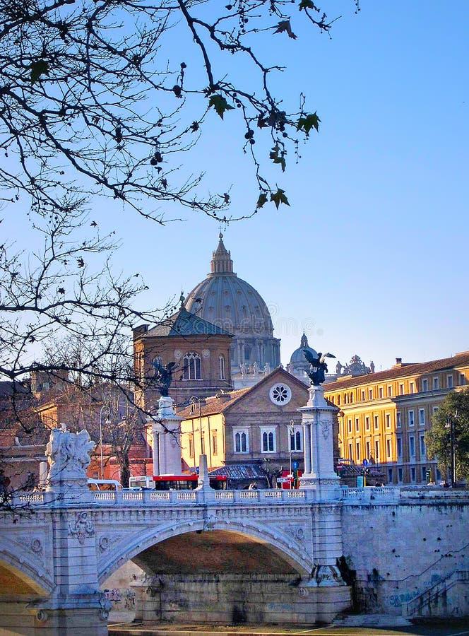 River Tibur in Rome Italy stock image