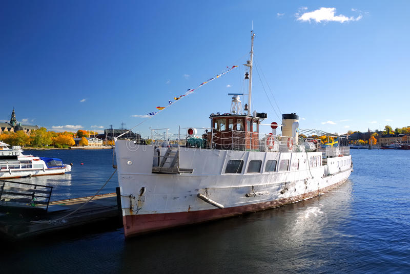 Download River Tourist Ship In The Harbor Of Stockholm Stock Image - Image of culture, exterior: 16514681