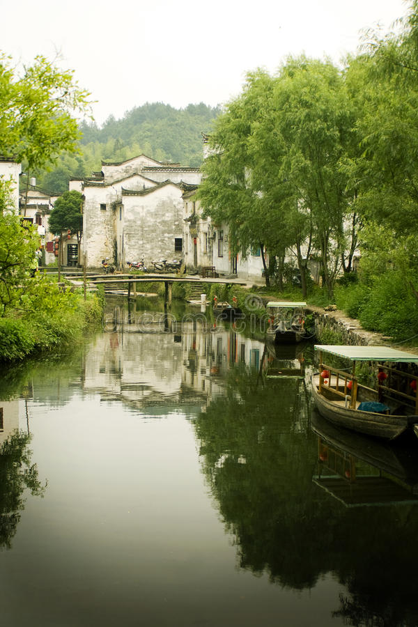 River town in south china stock photography