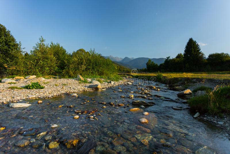 River in Transylvania, Romania, Europe stock image