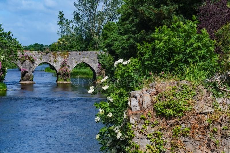River at Trim Castle royalty free stock photos