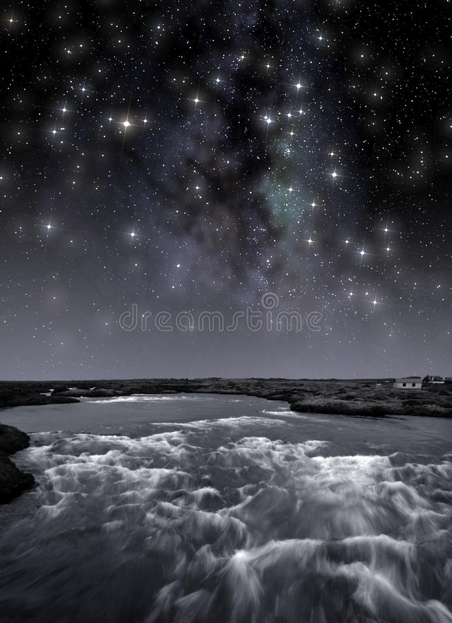 Free River Under The Stars Royalty Free Stock Images - 89978559