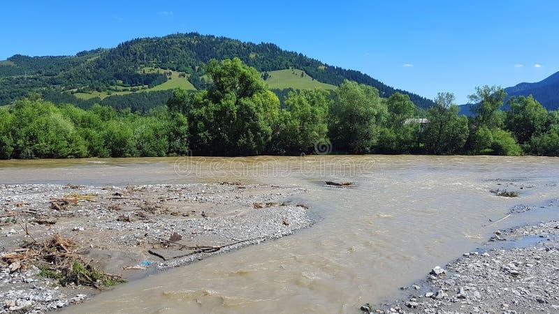 River Valley após a inundação fotos de stock royalty free