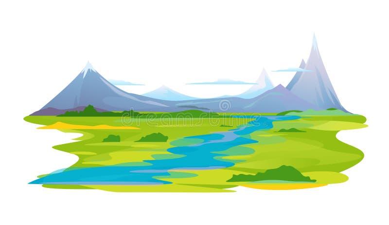 River Valley en montagnes illustration libre de droits