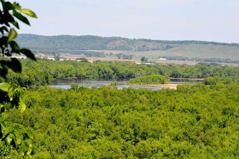 River Valley. River flowing through the driftless region royalty free stock images