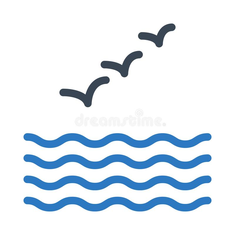 river vector thin line icon stock illustration illustration of blue bird 167149297 river vector thin line icon stock