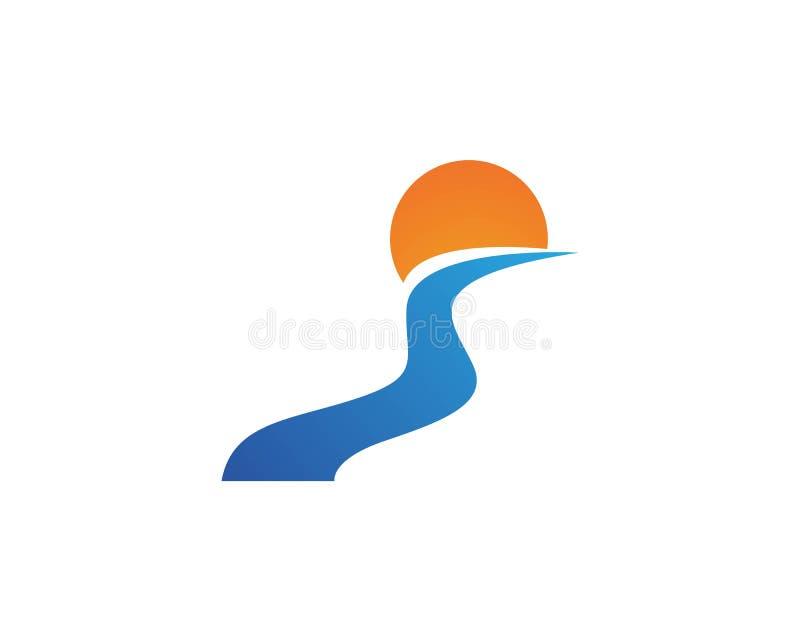 River vector icon illustration vector illustration
