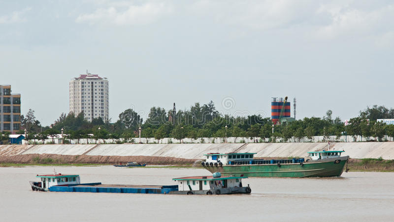 Download River Vessels In Cambodia Royalty Free Stock Images - Image: 26511889