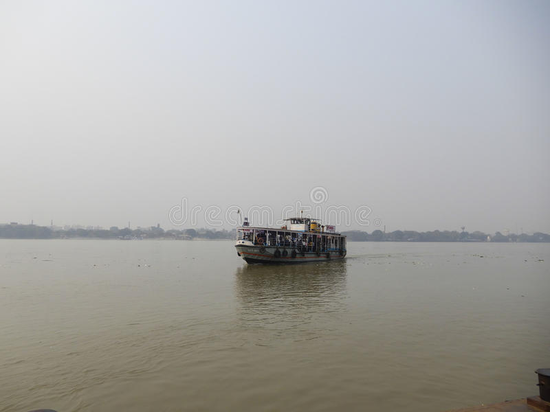 River view and ferry rides royalty free stock image