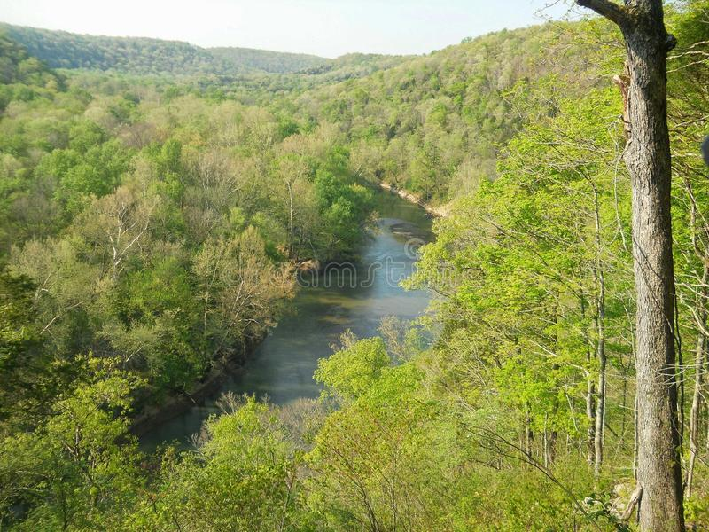 River view. From a trail at mammoth cave in kentucky royalty free stock photo