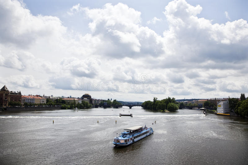 River Vltava On Prague Stock Photos