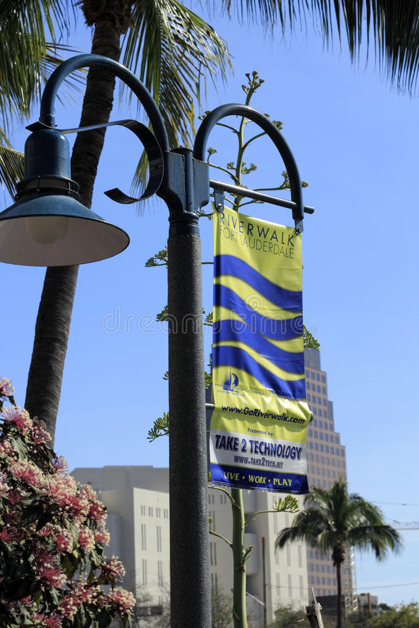 River Walk Fort Lauderdale Sign stock image