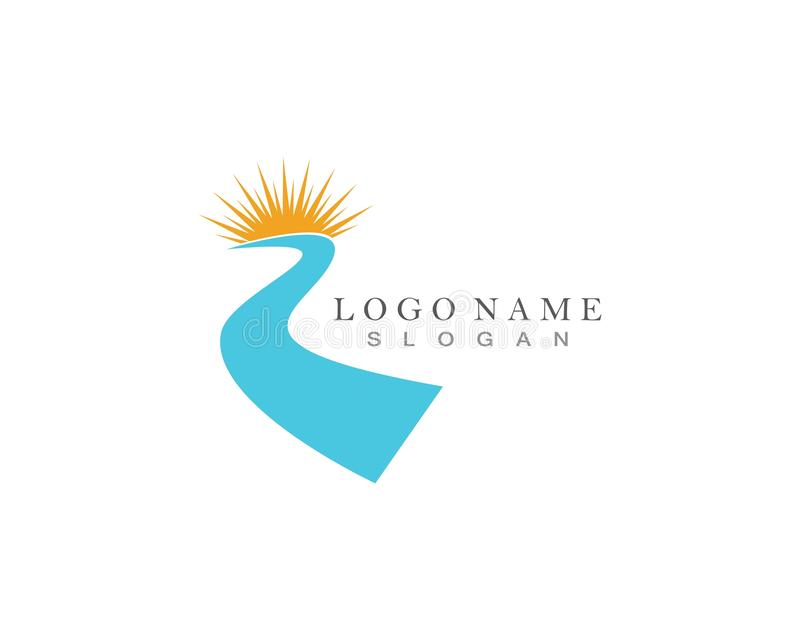 River Wave Logo Template Vector Icon royalty free illustration