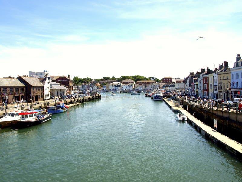 River Wey at Weymouth, Dorset, UK. stock images