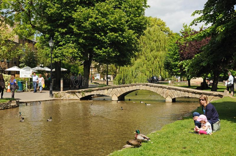 River Windrush, Bourton on the Water. royalty free stock photography