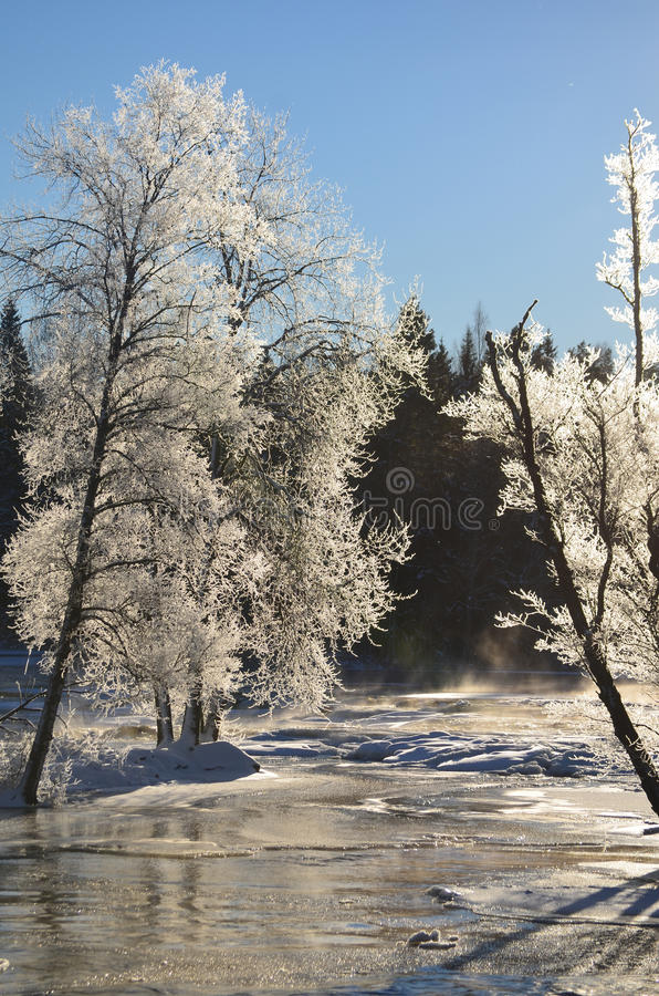 Download River in winter stock photo. Image of background, covered - 28957970