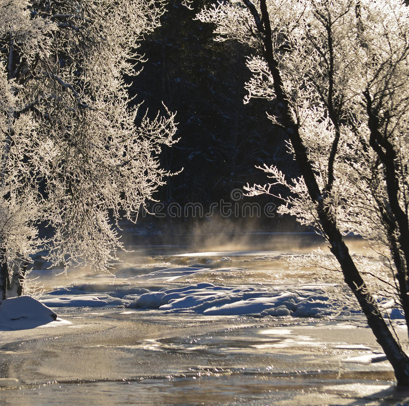 River In Winter Stock Photo