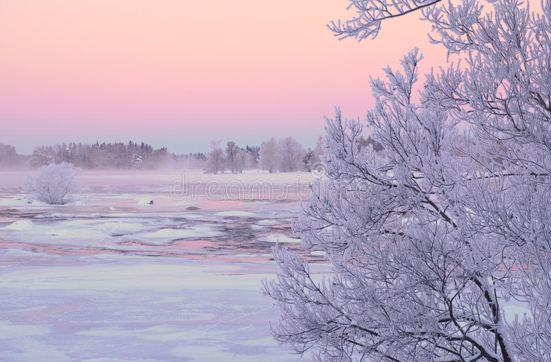 Download River in winter stock image. Image of rime, season, cold - 29025831