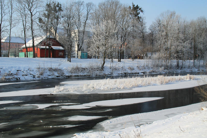 Download River in winter editorial photo. Image of illustrative - 83711136