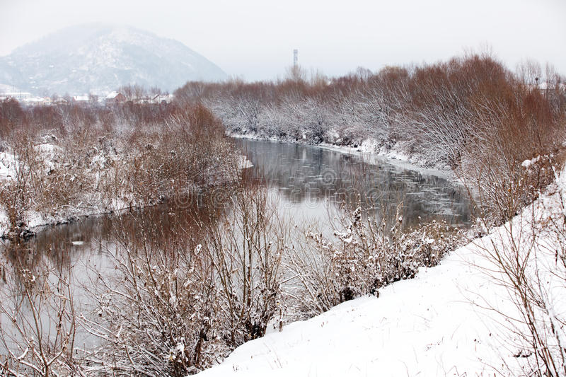 River In Winter Time Royalty Free Stock Images