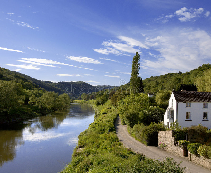 River wye the wye valley gloucestershire monmouthshire wales eng royalty free stock images