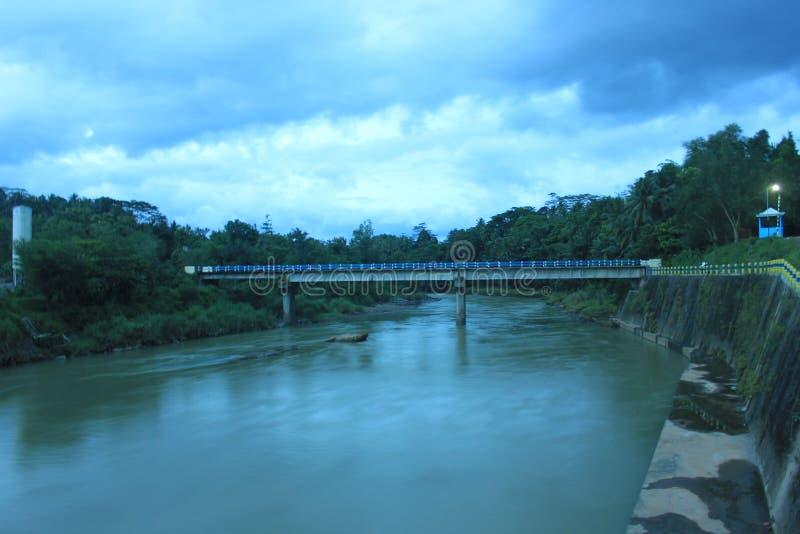 River of yogyakarta. Indonesia stock image