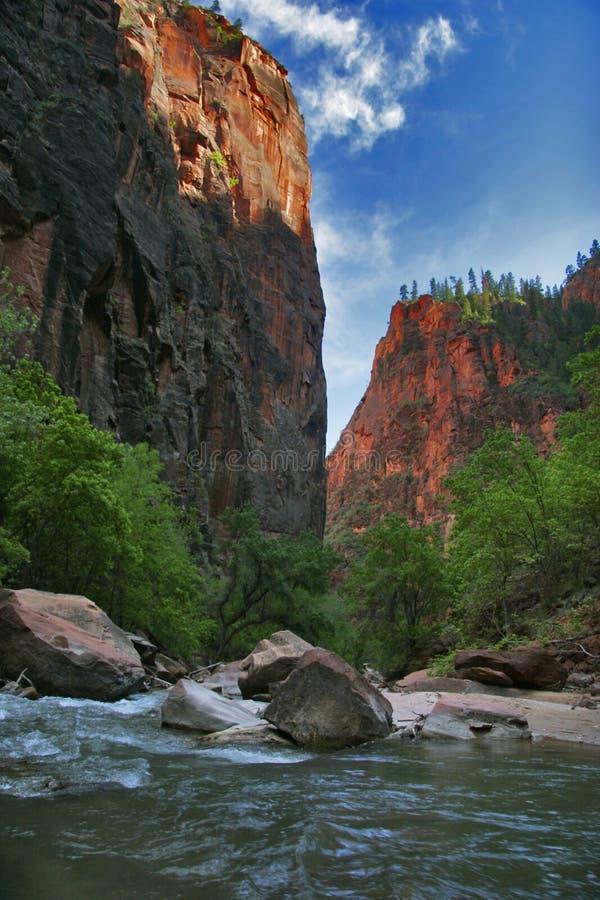 River of Zion stock photos