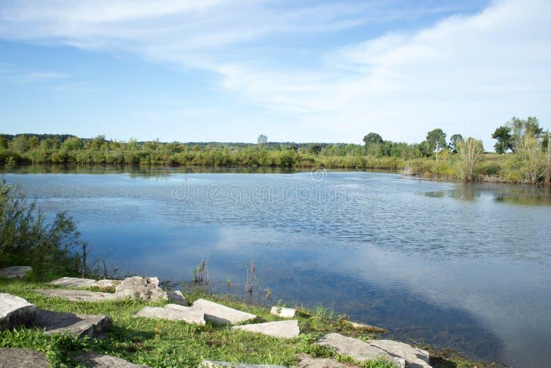 riverbank lizenzfreies stockfoto