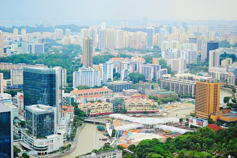Riverbank de Singapura imagens de stock