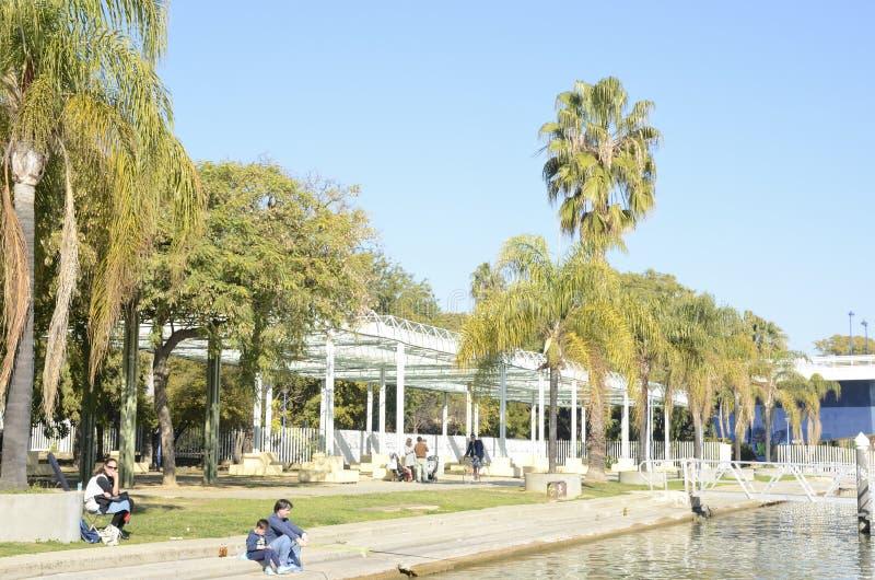 Riverbank en Sevilla foto de archivo libre de regalías