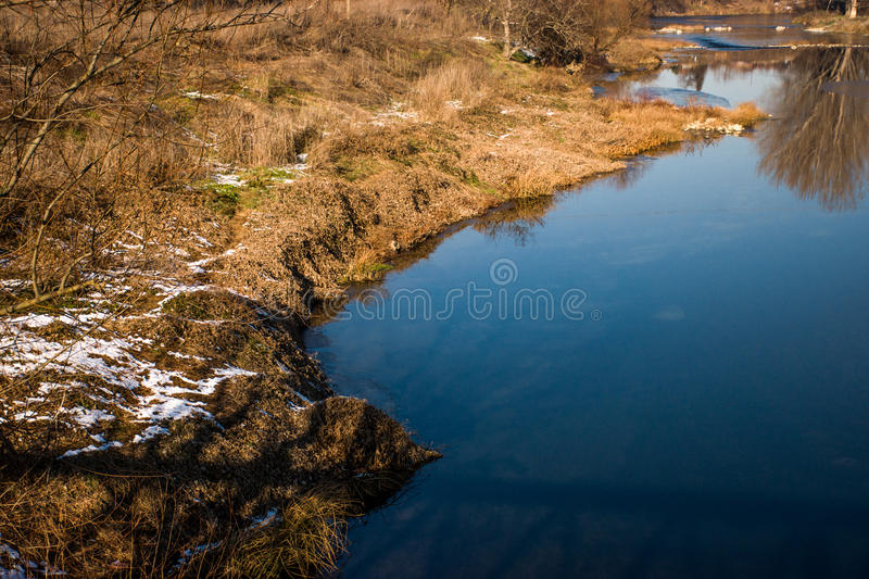 Riverbank. Life begins anew. Fresh start on life royalty free stock photos