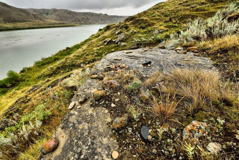 Riverbank Saskatchewan Południowa rzeka zdjęcie royalty free